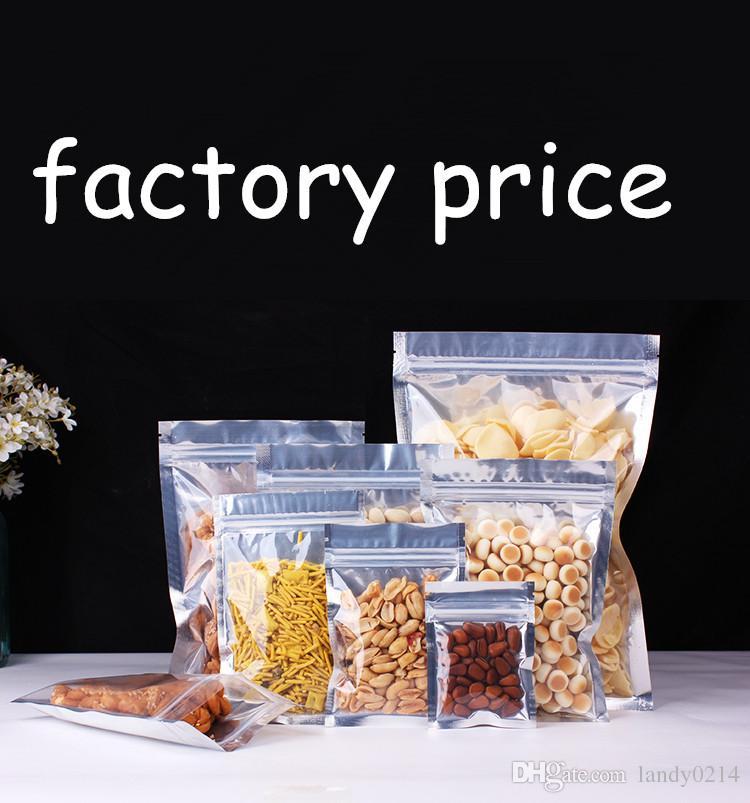Aluminum Foil vacuum food bag Vacuum pack Heat Seal Plastic Package vacuum Open Top bean corn pouch food packaging drop shipping Mylar Bag