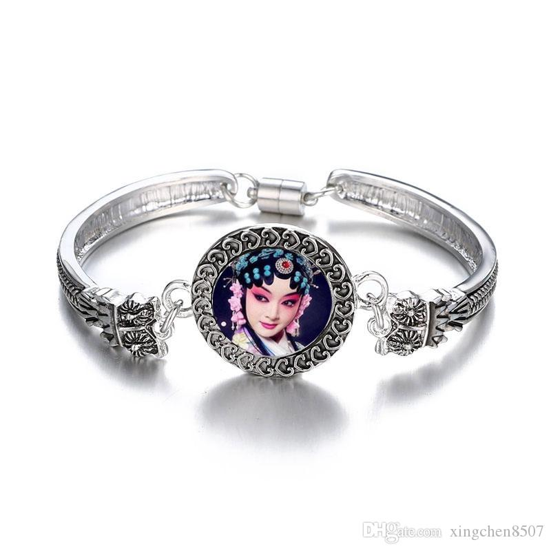 pulsante braccialetti per la sublimazione della moda moda Antichi modelli decorativi argento gioielli braccialetto trasferimento cuore fai da te consumabili personalizzati