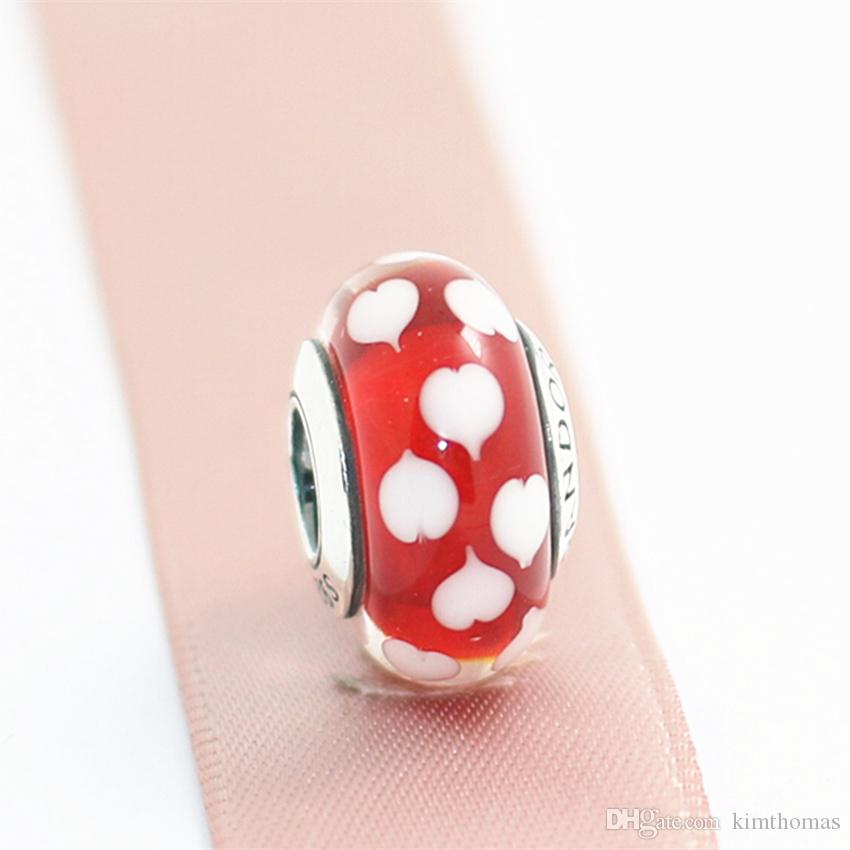 5Pcs Handmade Européen Lampwork Murano fleur à l/'intérieur de perles de verre Loose Bead