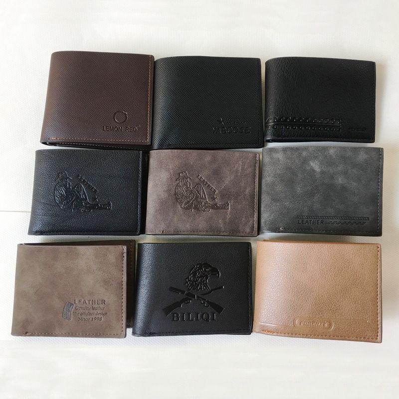 Üreticileri toptan erkek kısa cüzdan yangın deri cüzdan erkek cüzdan
