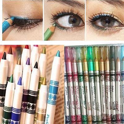 12 Renkler Glitter Göz Kalemi Kalem Kalem Kozmetik Makyaj Seti Mix renkleri Güzellik Araçları