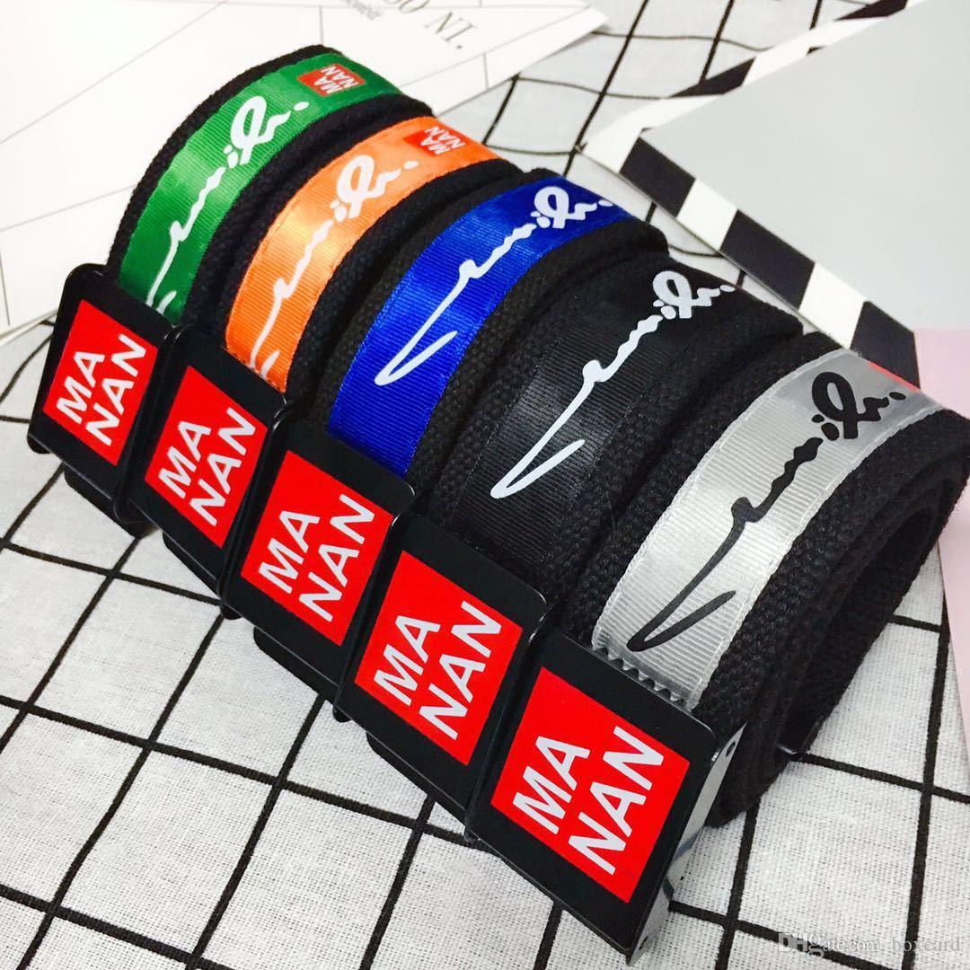 Cinturón de lona con diseño de moda para hombres y mujeres de Ma Nan Cinturón de lona deportivo Cinturones de lona de alta calidad para hombres