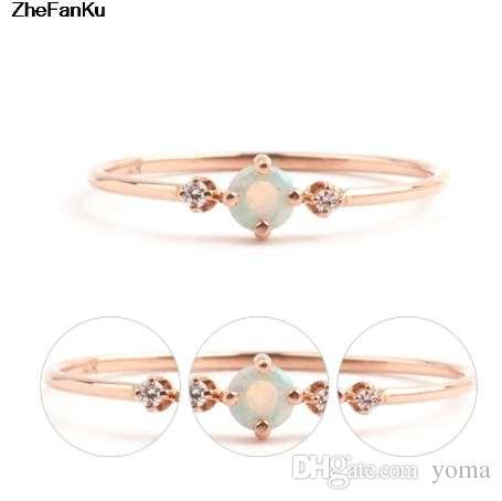 Простой опал кольца для женщин размер 6-10 тонкий свадьба обручальное палец кольца женские прелести ювелирные изделия
