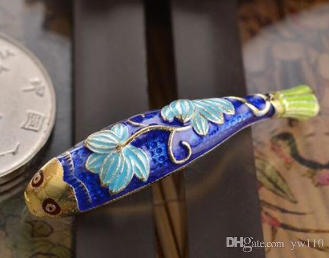 925 Gold Bending Blue Bend Accessories Lotus Fish Pipe Handmade Jewelry Material Bracelet Accessories Wholesale