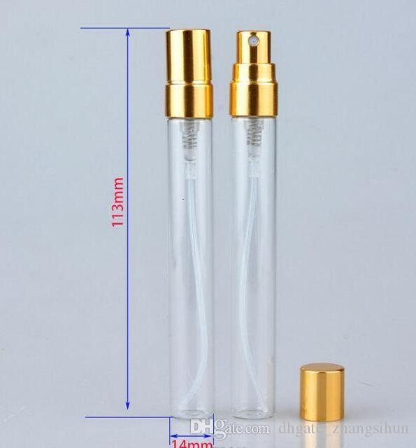 10 ml Glasduftstoff-Flasche Leer Refilable Sprühflasche Klein Parfume Atomizer Parfüm Probenfläschchen Testglasflasche Freies Verschiffen