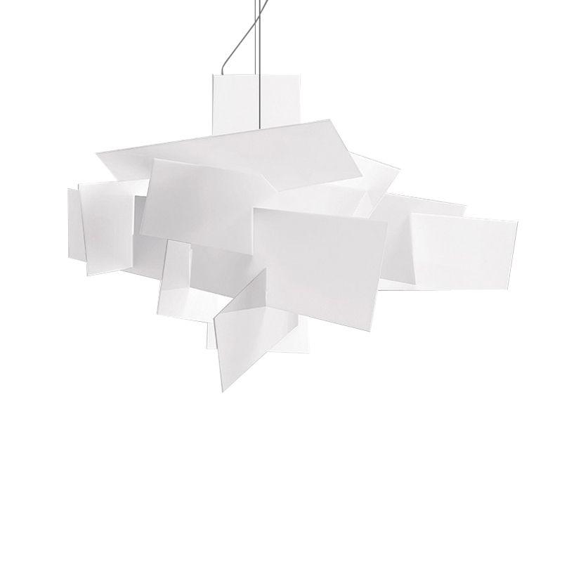 Малый Большой Взрыв подвесные светильники подвеска ханинг свет подвесные светильники D65cm современный красный белый искусство домашнего освещения E048 628