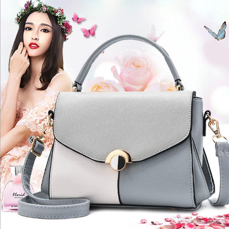 Women's Fashion New Zipper Lock High Quality PU Shoulder Bag Multi- Functional Travel Shopping Cosmetic Handbag Luxury Girl Message Bag