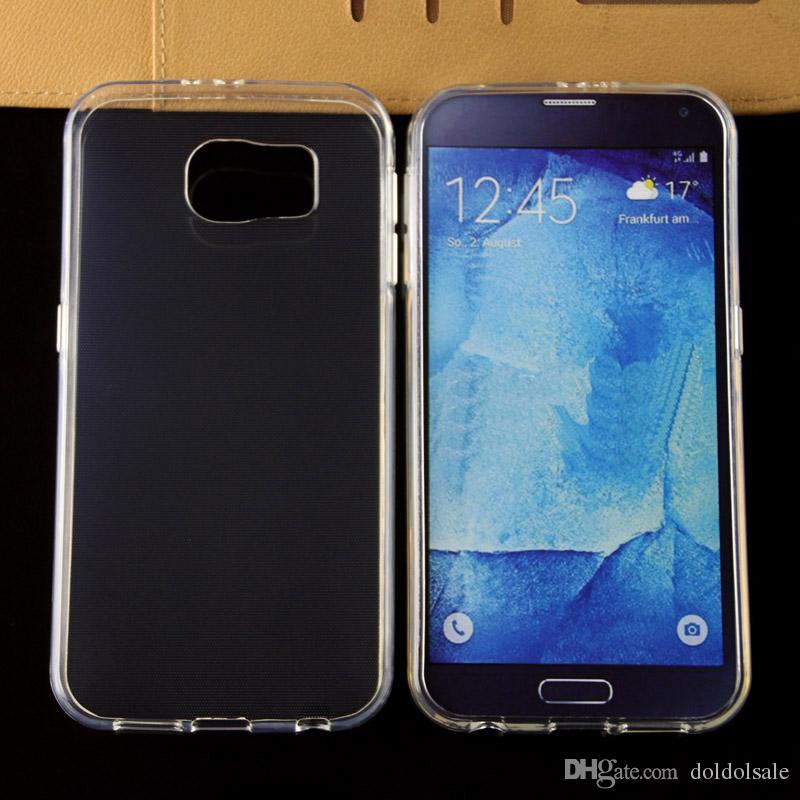 2 SZTUK TPU Powrót Skrzynki na Samsung Galaxy S7 Aktywna krawędź G935 G930 PLUS S9 TPU Ultra Clear przezroczysty miękki etui