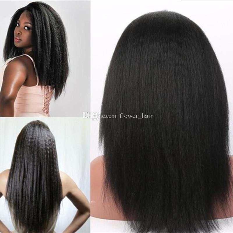 Italian Yaki Wig African American Full Lace