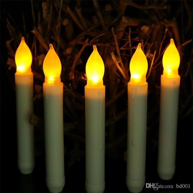 LED Light Bougie Candele elettroniche Taper Candle Wedding Birthday Party Decorate Forniture Glowing In The Dark 2 7ag ff
