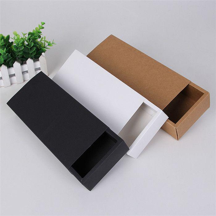 Çevre Dostu Kraft Kağıt Karton Çekmece Kutu Çorap Hediye Depolama Kağıt Kutu Renk Karışık Packaging
