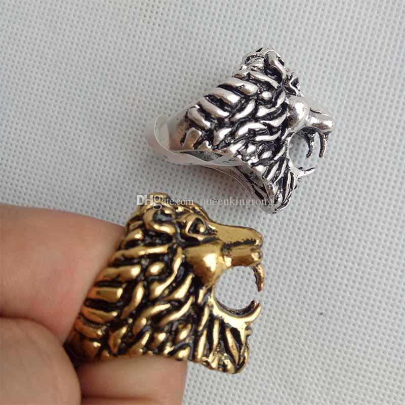 Creative Lion Head Shaped Sigisette Sumport Tobacco Accessori Base Accessori Strumenti di metallo Anelli di metallo per impianti di petrolio 2 colori