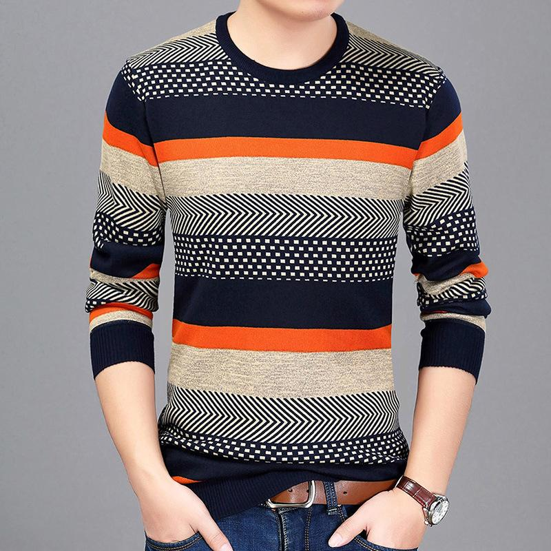 2020 Men Sweater Pullover Spring Autumn Male Sweaters Fashion Print Round Neck Ethnic Style Sweater Pullover Men From Shengui, $27.76 | DHgate.Com