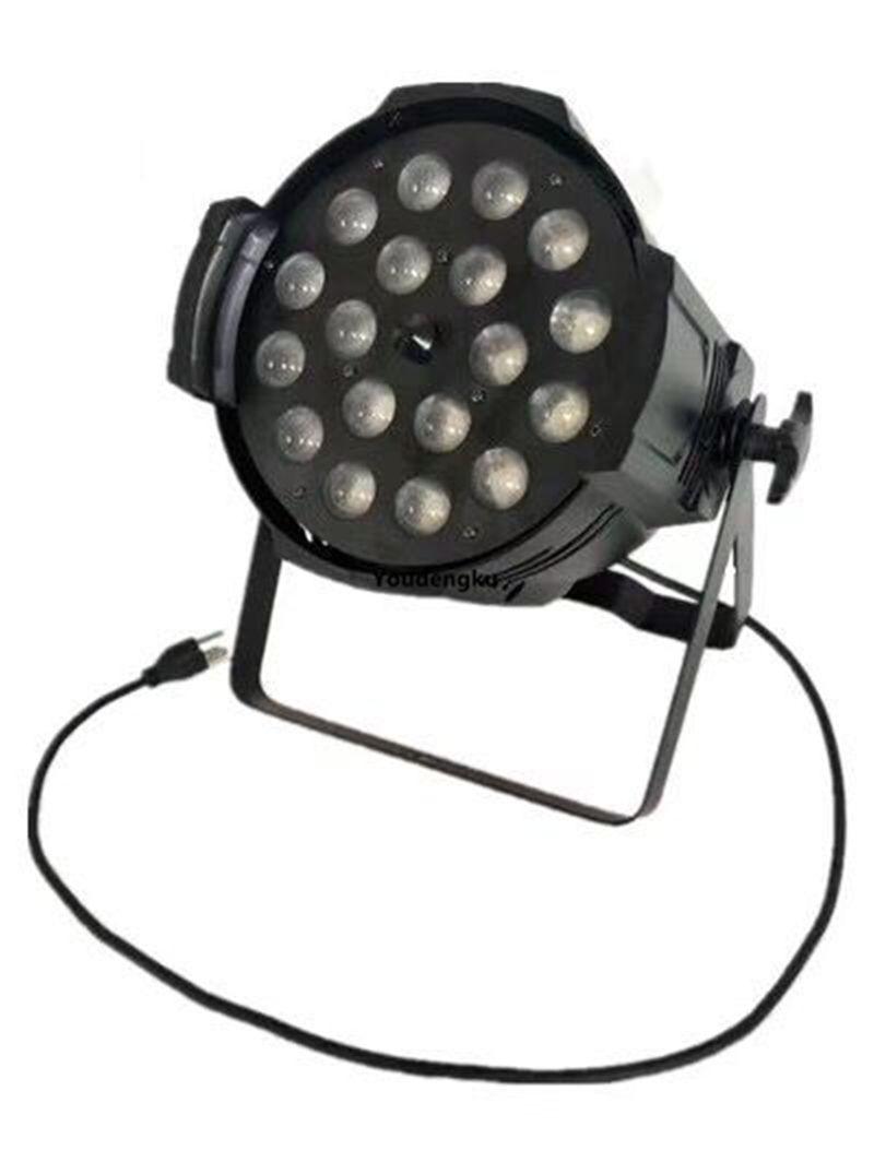4 piezas de luz par led 18pcs x 18w par par zoom par led rgbwa uv zoom