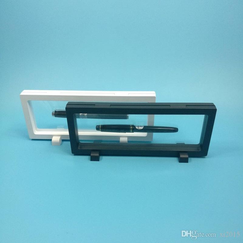 La scatola d'imballaggio del supporto del banco di mostra del pendente della visualizzazione della penna della membrana dell'ANIMALE DOMESTICO protegge l'orologio W7188 di presentazione galleggiante dell'orologio dei gioielli