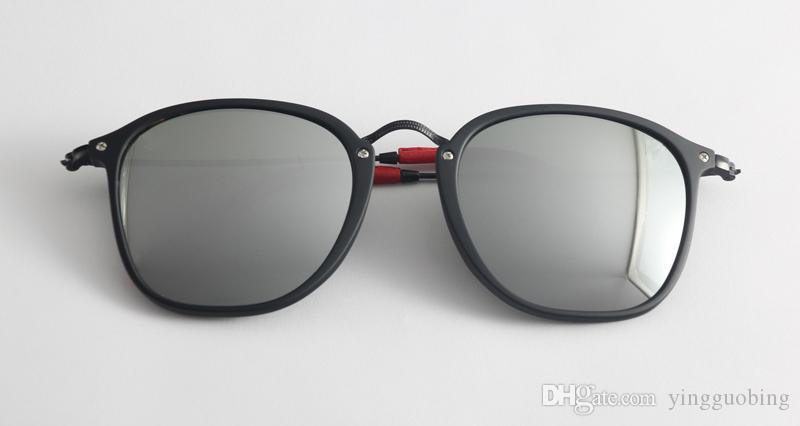 Mercury Moda Hombres Mujeres Mujer Top Espejo Gafas Oculos Gafas Gafas Sunglass Recubrimiento Multicolor Sol Square 2448 De Gafas de Sol Feminino Ma Gdat