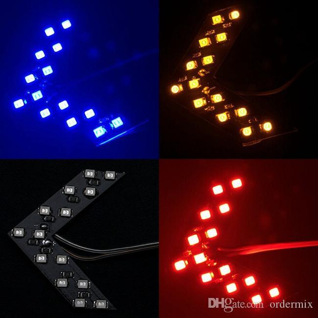 Stylizacja samochodów 2 SZTUK 14 SMD LED Strzałka Panele Light Car Side Lusterko Sygnał / Wskaźnik Light / Car LED / Parking EA10219
