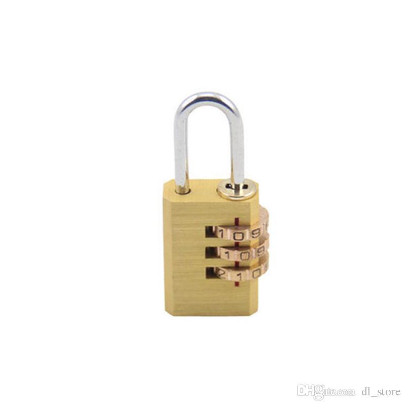Кодовый замок 3-значный регулируемый замок из латуни Ящик шкафа чемодан рюкзак молния тяга коробка Кодовый замок DL_HPL003
