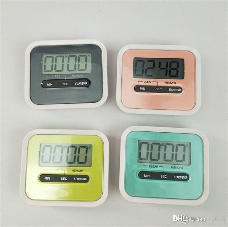 Práctico LCD Temporizador de cuenta regresiva digital Inicio Inglés Dispositivo de alarma de plástico electrónico Novedad Cocina Herramientas de cocina de alta calidad 6gl ZZ