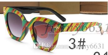 الصيف انبهار اللون امرأة القيادة النظارات الشمسية الرجل الرياضة الأزياء إطار كبير تصميم النظارات الشمسية الدراجات النظارات السوداء نظارات الشمس الحرة shipp