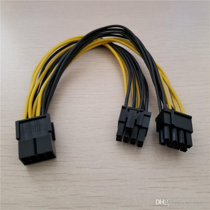 10 قطعة / الوحدة PCI-E PCI Express بطاقة الرسومات الرسومات GPU 8Pin أنثى إلى ثنائي 2x 8 وعاء (6 + 2 دبوس) ذكر الفاصل السلطة Y كابل الحبل 18awg سلك 20 سنتيمتر