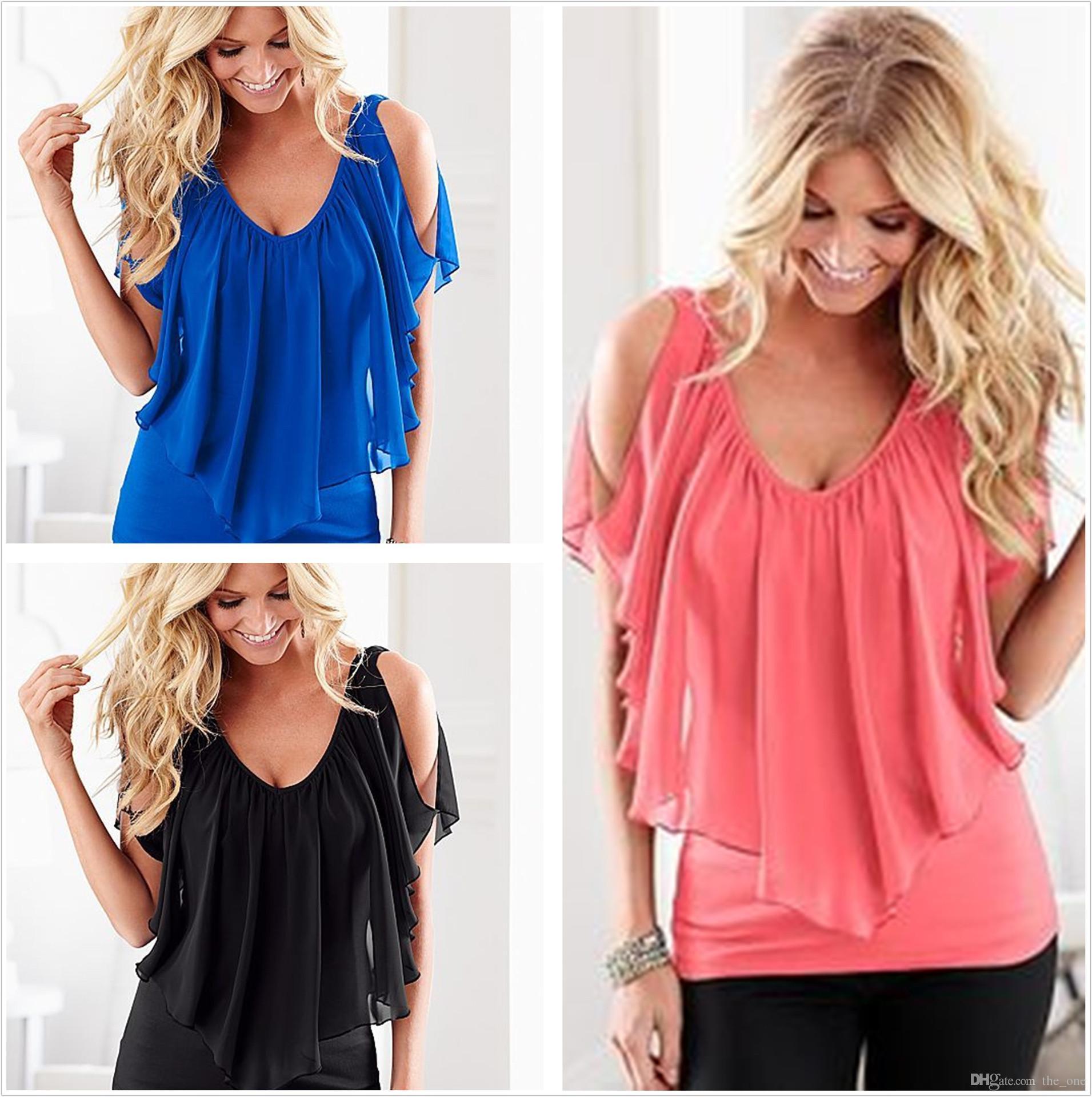 Мода женщины лето шифон футболка Шаль глубокий V шеи стрейч ткань повседневная с коротким рукавом Женская одежда плюс размер материнства топы 8 цветов