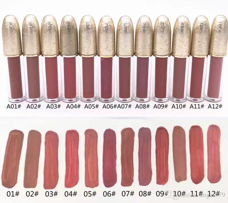New Matte Liquefied Shipping Luster Lipgloss Retro Glassed Lipgloss Glaze Lipgloss 12 diversi colori