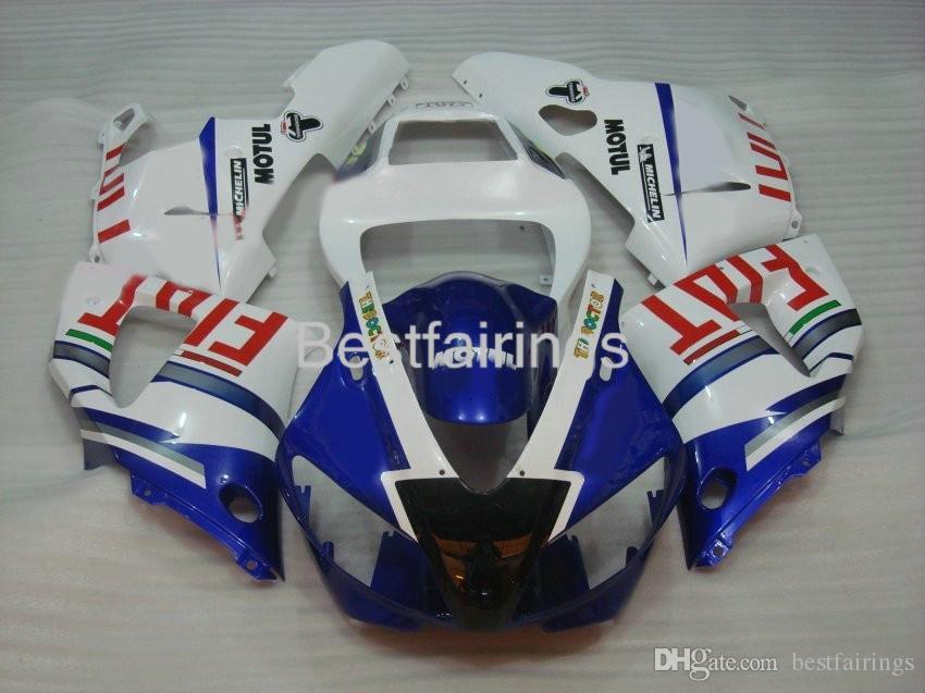 7gifts kit de carenado para YAMAHA R1 1998 1999 carenados azul blanco YZF R1 98 99 BA14
