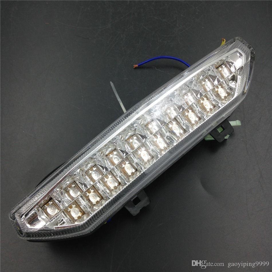 Lumière claire de clignotant de frein de queue de moto LED pour Kawasaki Ninja ZX-6R 2007-2008