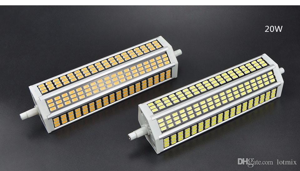 220V R7S LED Floodlight 5W 10W 13W 20W SMD 5736 78mm 118mm 135mm 189mm LED Faretto lampada Lampadina per esterno quadrato Proiettore
