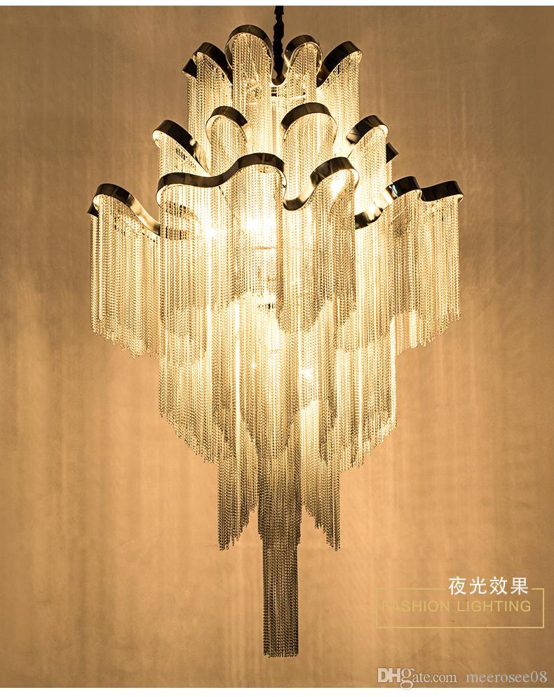 Lampadari moderni Illuminazione per interni Apparecchio Impero francese Impero Lampade a sospensione in alluminio Lustro Appeso Lampada a sospensione Lampada Luminaria Catena del progetto