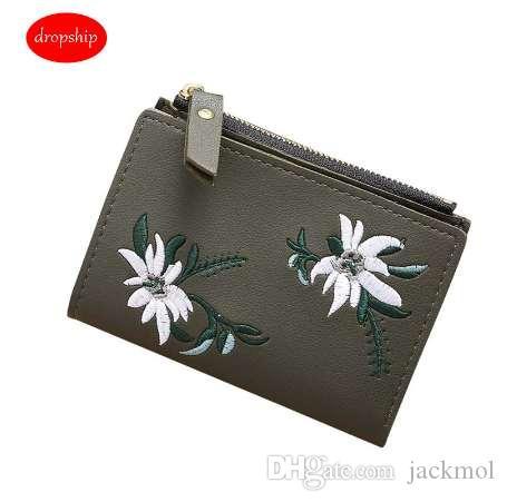 Xiniu новый женский кошелек маленькая вышивка молния короткий Кошелек женский портмоне держатели карт сумка carteira feminina#W