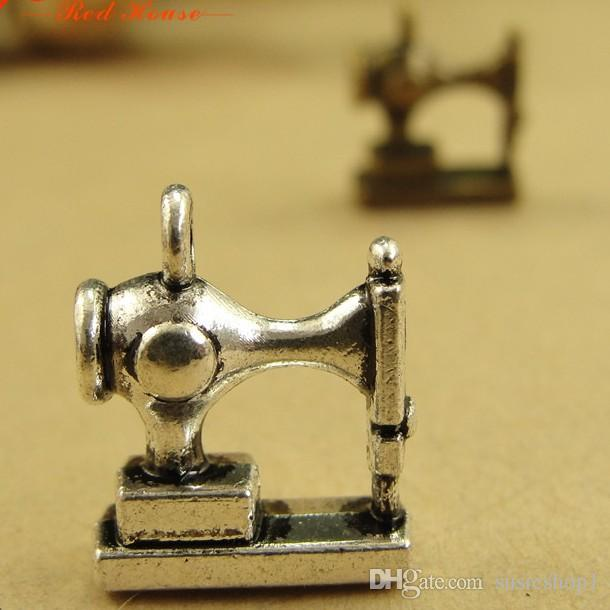 10 x Sewing Machine Singer Pendants Charm pendant bead charm silver color