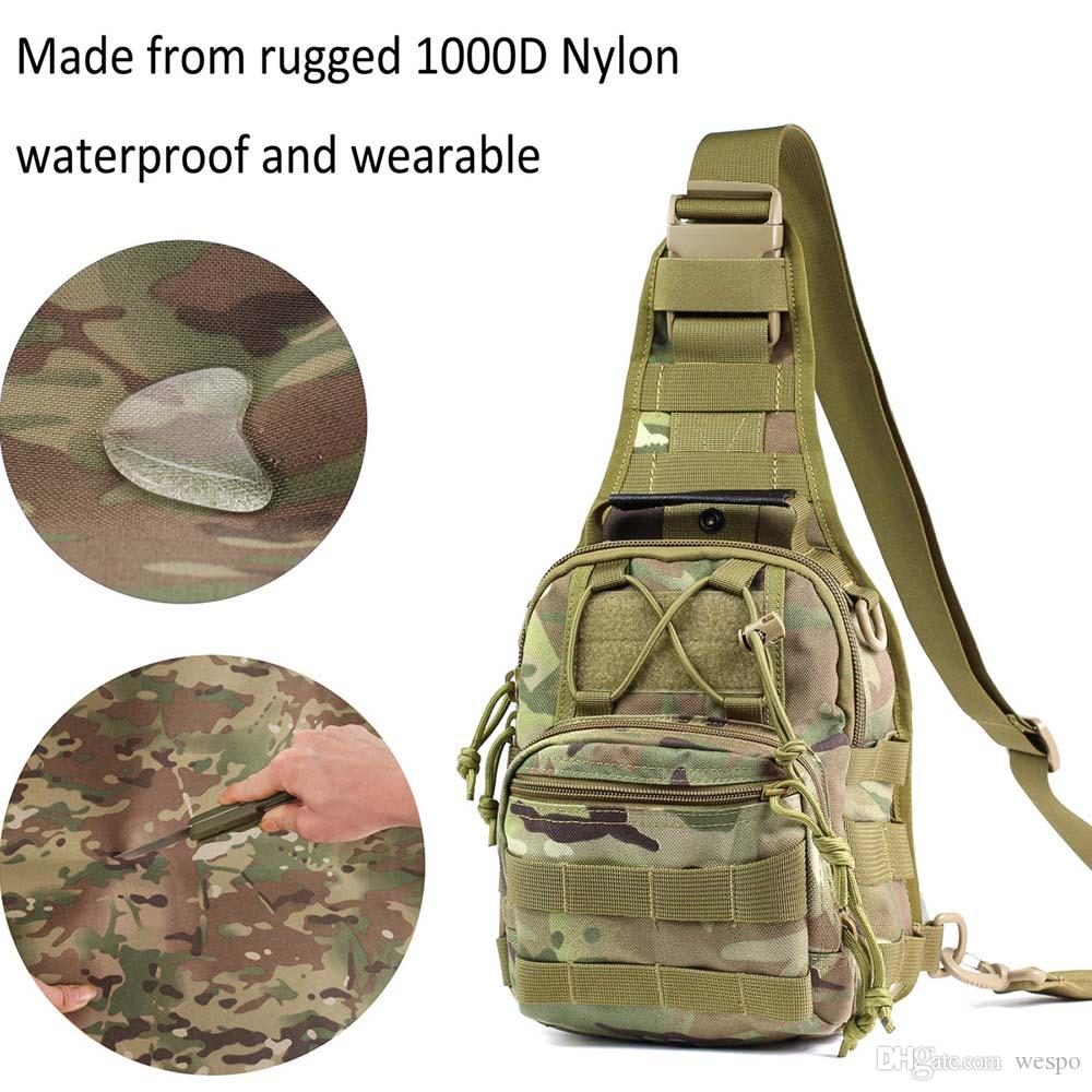 승마 2 개 D 링 방수 USA 무료 배송 남여 전술 디자이너 11L 배낭 EDC 가슴 어깨 가방 1000D 나일론