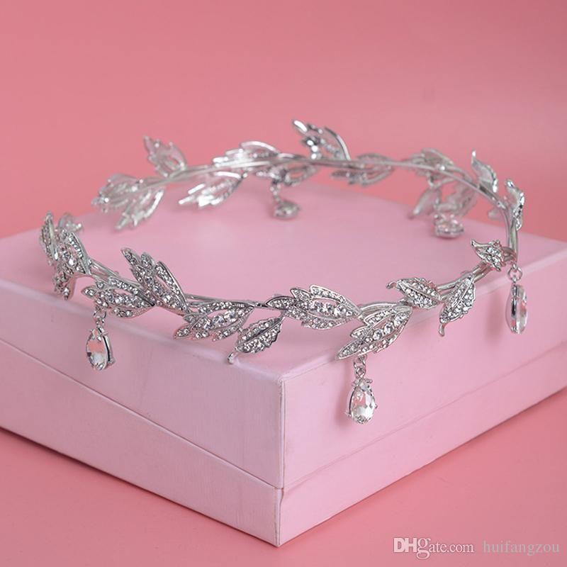 Luxury Designer Rhinestones Wreath Crown 2019 Hot Sale New Arrival Drop Water Clear Crystal Headpieces Jewelry Bridal Accessories