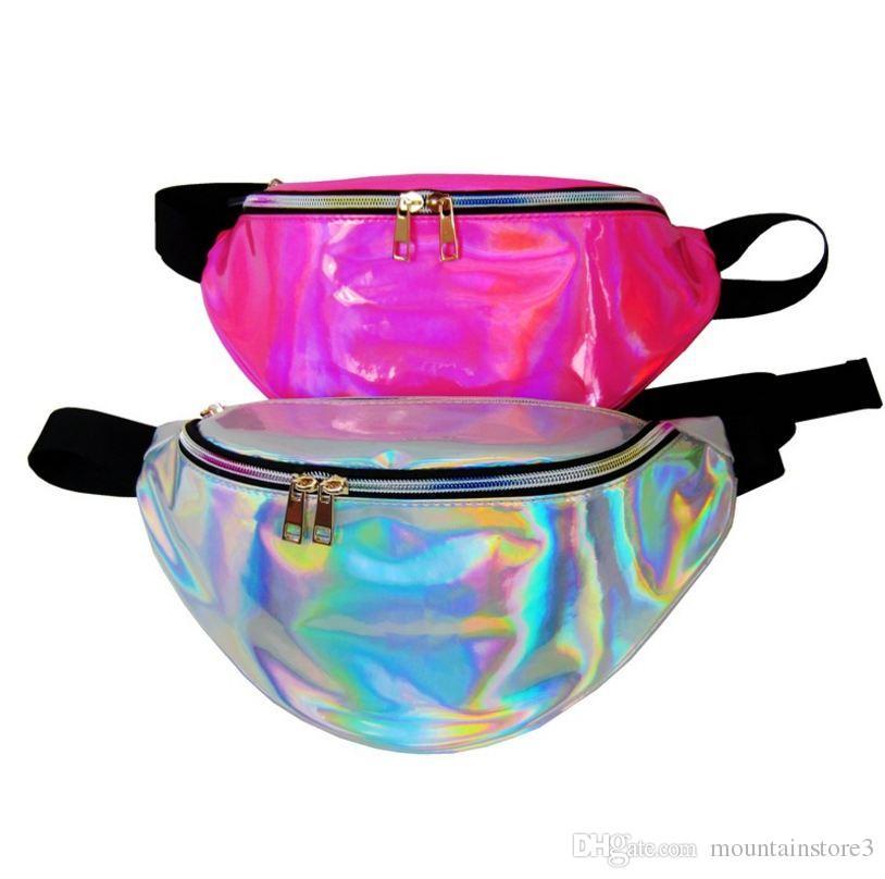 New Holographic Fanny Pack Laser Waist Packs Heuptas Hip Bag Women's Waistband Banana Bags Waist bag Unisex bolso cintura -H