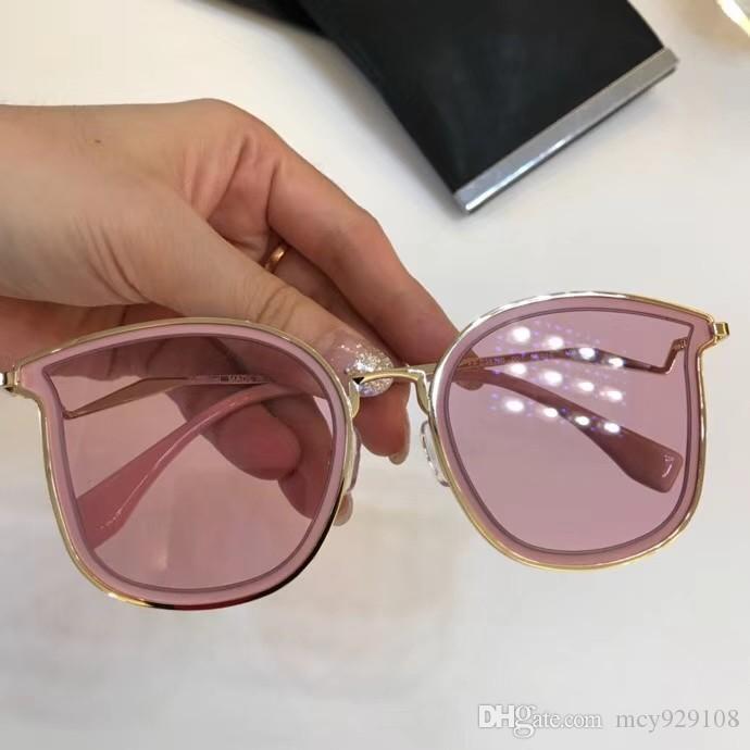 Nuova protezione 0388 Mens Occhiali da sole Occhiali da sole con popolare Semplice Case Uomo Donna Moda UV400 Eyewear all'ingrosso Outdoor su Vurql