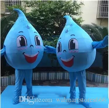 2018 venda quente azul pouco traje da mascote da gota da água para o adulto para vestir mascote do personagem de banda desenhada para a venda