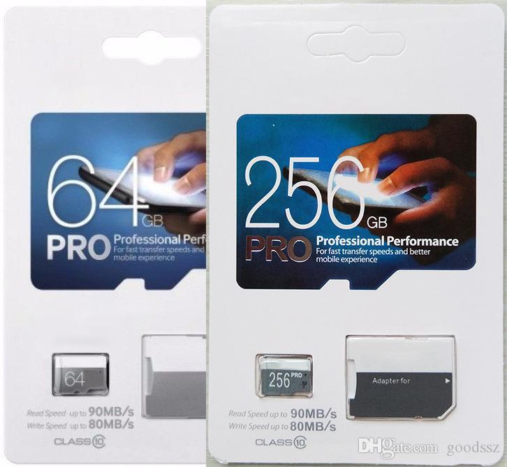 PRO 2백56기가바이트 1백28기가바이트 64기가바이트 32기가바이트 TF 트랜스 플래시 카드 90메가바이트 / s의 80메가바이트은 / 카메라 스마트 폰 클래스 10을이야