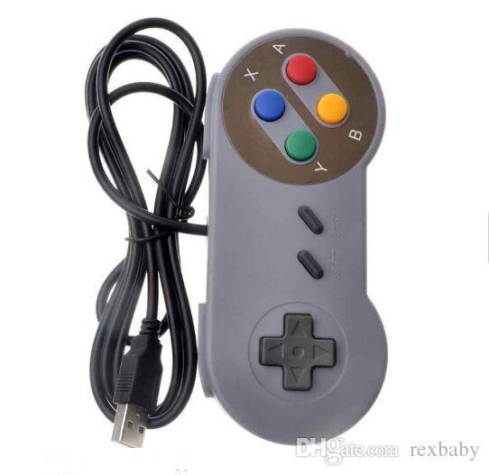 الألعاب الرجعية ل SNES USB السلكية الكلاسيكية عصا التحكم GamePad لجهاز الكمبيوتر ويندوز ستة أزرار رقمية