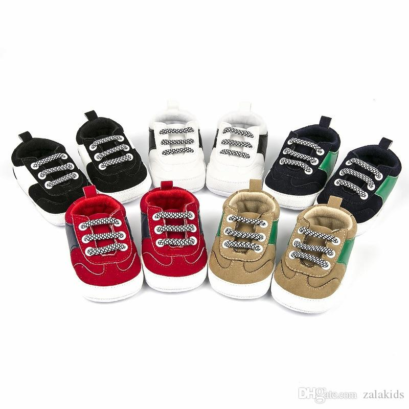 2019 Bebek sneakers çocuklar PU Deri Ilk Yürüyüşe Bebekler yumuşak alt kaymaz Ayakkabı Kış Sıcak Toddler ayakkabı