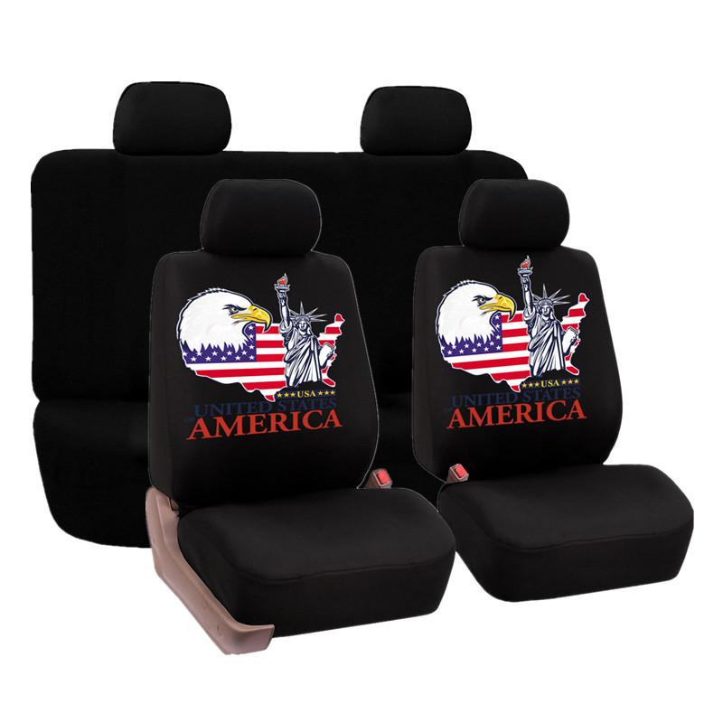High Quality Washable Car Seat Covers Sandwish Mesh Seat Cover Print America Statue of liberty Set Universal Car Seat Protector