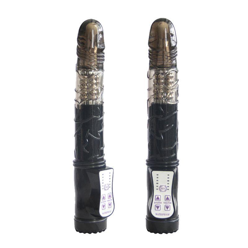 Vibratori clitoridi del sesso del vibratore di rotazione dei vibratori del G-punto di vibrazione dei vibratori del G-punto di funzione di multi velocità nera per le donne
