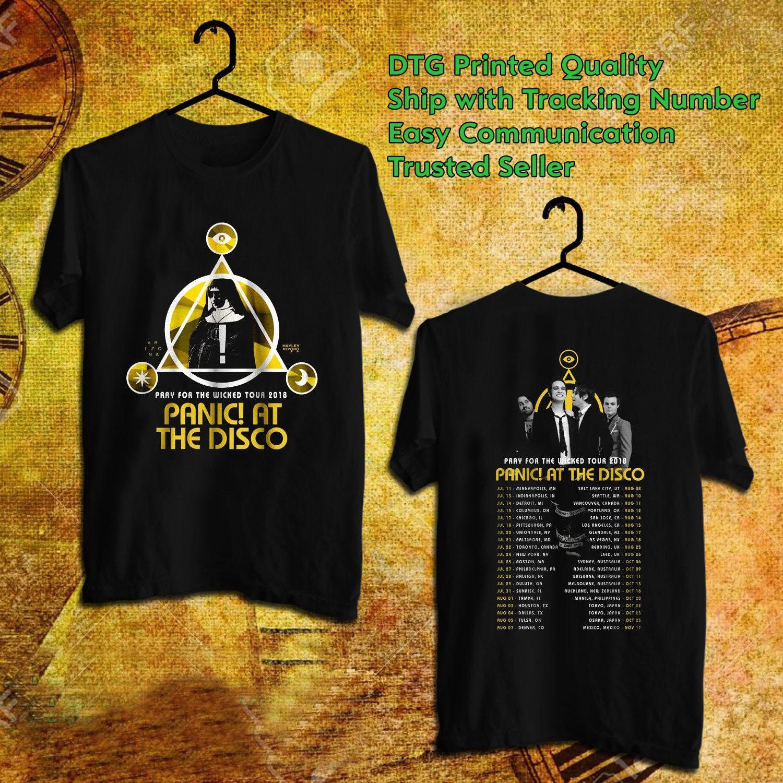 Паника на дискотеке рубашка PATD тур Merch музыка World Tour 2018 Группа футболка мужская