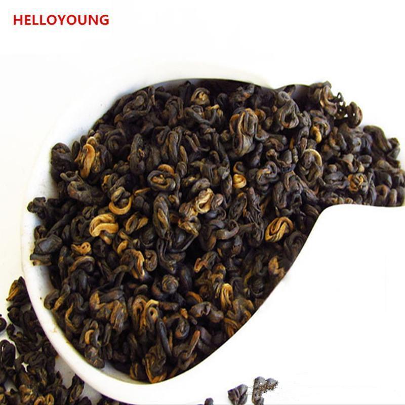 Tercih 200g Çin Organik Siyah Çay Yunnan 1 Bud 1 Yaprak Dianhong Kırmızı Çay Sağlık Yeni Pişmiş Çay Yeşil Yiyecek Kıvrımlı