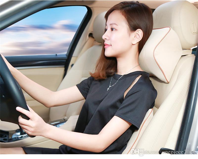 Araba Oto Koltuk Arka Yastık Ve Koltuk başlığı Boyun Yastık Battaniyeler Bel Geri Destek Sürücü Omurga Ağrısı Yastık Destekler