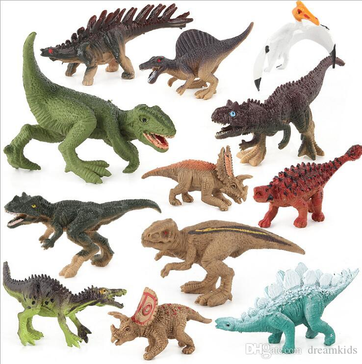 12 teile / satz Dinosaurier Spielzeug Kunststoff Jurassic Spielen Dinosaurier Modell Action-figuren Beste Geschenk für Jungen freies verschiffen