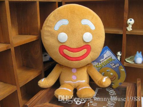 """YENİ Shrek 2 The Big, Headz Kurabiye Gingerbread Man Struffed Peluş Oyuncak 10"""" / 25cm Ücretsiz Kargo"""