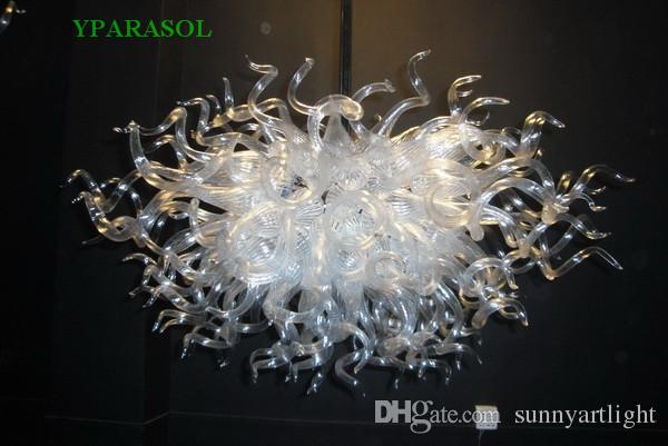 Free Shipping 100% Mouth Blown Borosilicate Wedding Home Decoration Contemporary Led Light Source Smart Lights Murano Glass Chandelier Lamp