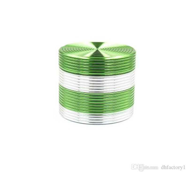 New high quality colorful 50*40mm 4 parts zinc alloy herb grinder for tobacco smoking herbal smoking grinders wholesale